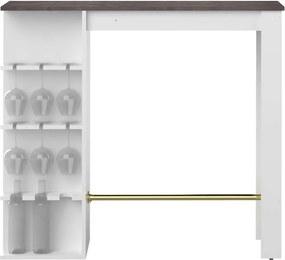Symbiosis bartafel Farso - wit/ betonkleur - 103x145x50 cm - Leen Bakker