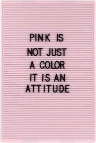 Letterbord 31 x 46 cm roze