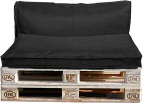 Palletkussens Keano (set van 2) - antraciet - 120x40/80 cm - Leen Bakker