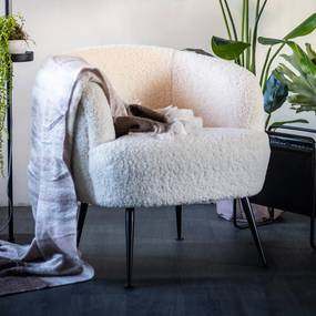 By-Boo Babe Moderne Fauteuil Wit