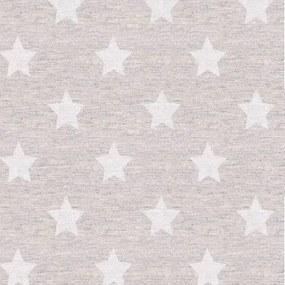 Gecoat Tafellinnen Stars Silver 140cm