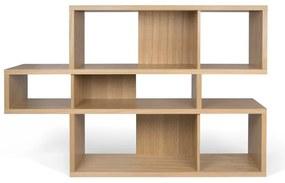TemaHome London Lage Design Boekenkast Eiken-eiken - 156x34x100cm.