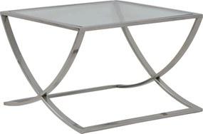 Salontafel MOLINA - glas + nikkel - M