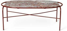 Warm Nordic Secant tafel ovaal marmer Red White