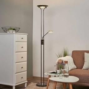 Glanzende LED uplighter Aras, zwart chroom - lampen-24