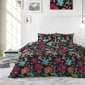 Sleeptime Elegance Kabuki Roses - Zwart 1-persoons (140 x 220 cm + 1 kussensloop) Dekbedovertrek