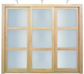 Goossens Excellent Kledingkast Duo, 248 cm breed, 223 cm hoog, 3 x 3 glaspaneel  schuifdeuren