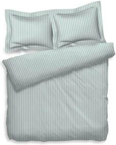 Heckett Lane Uni Stripe - Mint Lits-jumeaux XL (260 x 200/220 cm + 2 kussenslopen) Dekbedovertrek