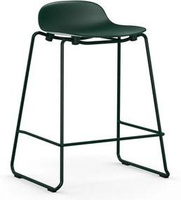 Normann Copenhagen Form Barstool Stapelbare Barkruk 75 Cm Met Gelakt Onderstel Groen