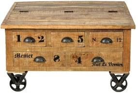 Salontafel Guus - mangohout - 47x90x90 cm - Leen Bakker