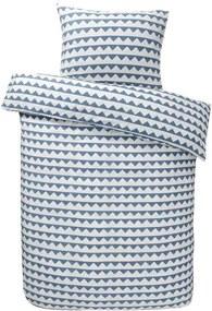 Easy dekbedovertrek Lund - blauw - 140x200 cm - Leen Bakker