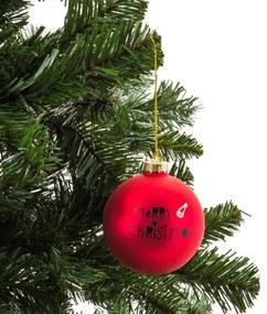 Kerstbal Merry Christmas muts - 8 cm - rood