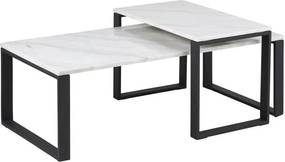 Marmeren Salontafel Set - 115 X 69cm.