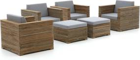 ROUGH-C stoel loungeset 6-delig - Laagste prijsgarantie!