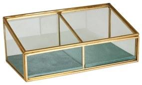 Juwelendoos 2-vaks - 18x9.5x7 cm
