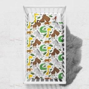 DreamHouse Bedding Small Zoo - Ledikant hoeslaken - Verwarmend Flanel Dekbedovertrek