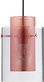 Frandsen Cora hanglamp brushed copper smoke glas