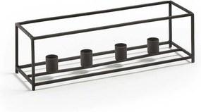 LaForma Delight - Metalen kaarsenhouder - Groot- Zwart - Kaars - Metaal - Frame - Kaarsen - Vier - Design