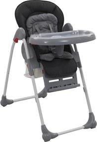 Kinderstoel hoog grijs