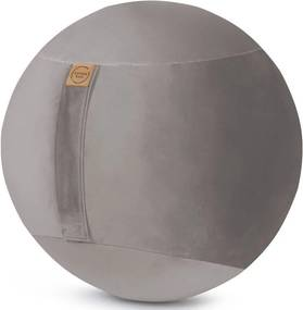 Sitting Ball Zitbal Samt Uni 65 cm - Grijs