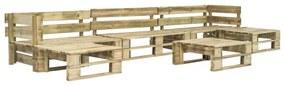 6-delige Loungeset pallet FSC hout groen