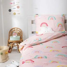 Fresh&Co Kids Dekbedovertrek Rainbows 1-persoons (140 x 200 + 1 kussensloop) Dekbedovertrek