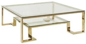 Kare Design Gold Rush Gouden Salontafel - 120 X 120cm.