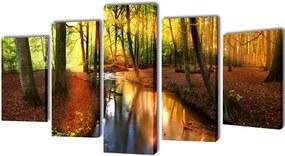 Canvasdoeken Bos 200 x 100 cm