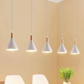 Fraaie LED wandlamp Arina in wit met 5 lampen - lampen-24