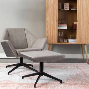 Zuiver Uncle Jesse Retro Draaifauteuil