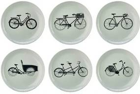 Bikes Borden Set van 6 Ø 20 cm