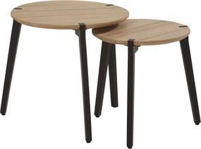 Gabor coffee table teak 45 cm ø Alu legs (H 45 cm)