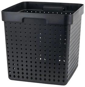 Mand xl - zwart - 29,5x29,5x29,5 cm