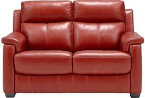 Goossens Excellent Bank Dennis rood, leer, 2-zits, stijlvol landelijk