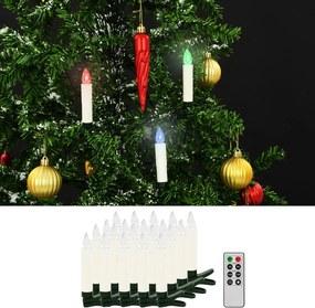 LED-kaarsen kerst draadloos met afstandsbediening 20 st RGB