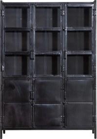 Eleonora Industrieel Industriële Vitrinekast - 125x42x180cm.