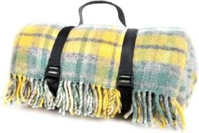 Picknickkleed wol: geel ruiten