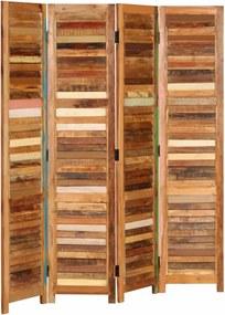 Kamerscherm 170 cm massief gerecycled hout