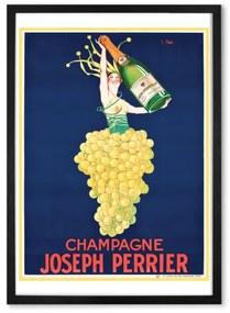 Champagne vintage drinks, ingelijste print, A2, meerkleurig