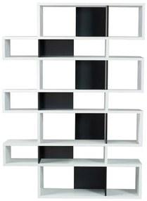 TemaHome London Hoge Design Boekenkast Wit - Zwart - 156x34x220cm.