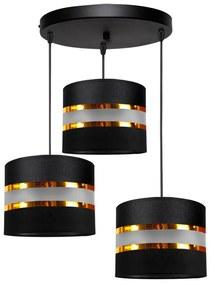 Hanglamp aan koord CORAL 3xE27/60W/230V zwart
