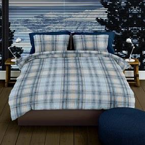 Romanette Badrutt - Verwarmend Flanel - Blauw Lits-jumeaux (240 x 200/220 cm + 2 kussenslopen) Dekbedovertrek