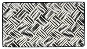 Tapas bord Sevilla - zwarte streepjes - 28x15,5 cm
