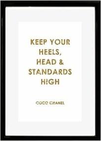 HOME AFFAIRE artprint »Opschrift: keep your heels, …«, 30/40 cm