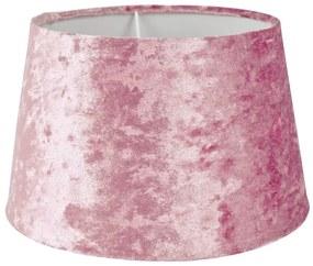 Lampenkap velvet - lichtroze - ⌀18 cm