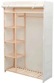 Kledingkast stof en grenenhout 110x40x170 cm