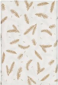 Tafelkleed Papier 138x280 Wit Met Bladeren (wit)