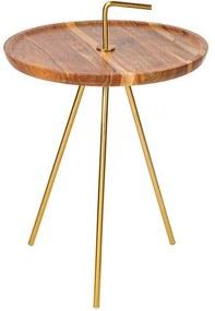 BeMade Furniture   Bijzettafel Clever lengte 36 cm x breedte 36 cm x hoogte 42 cm naturel bijzettafels acaciahout, metaal   NADUVI outlet