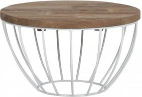 D-Bodhi Salontafel Madison White Small  - Hout - Metaal - D-Bodhi - Industrieel & robuust