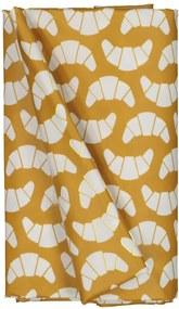 Tafelzeil 140x240 Polyester - Croissants Oker/wit (okergeel)